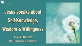 Jesus speaks about Self-Knowledge Wisdom and Willingness-Love Letter from Jesus 2