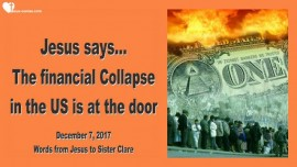 Jesus says-The financial Collapse in America is at the door-Love Letter from Jesus