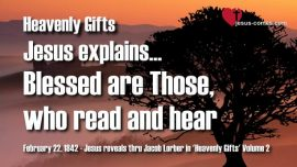 Heavenly Gifts Jakob Lorber Gifts from Heaven-Blessed is-read and hear-Revelation 1_3-Gospel of John