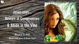 2018-05-23 - Jesus says-Do not Compromise-Abide in the true Vine-Love Letter from Jesus