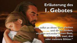 Geistige Sonne Jakob Lorber-Das erste Gebot-Du sollst an einen Gott glauben und keine anderen Goetter neben mir haben