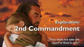 Spiritual Sun Jakob Lorber-The second Commandment-Thou shallt not take the Name of God in vain