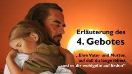 Geistige Sonne Jakob Lorber-Das vierte Gebot-Ehre Vater und Mutter auf dass du lange lebest auf Erden