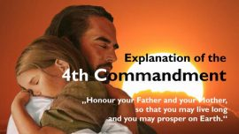Spiritual Sun Jakob Lorber-The fourth Commandment-Honor Father and Mother so you may have a long and prosperous life