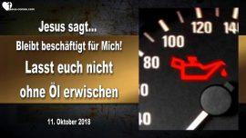 2018-10-11 - 5 kluge und 5 toerichte Jungfrauen-10 Jungfrauen-Lampe Ohne Oel-Liebesbrief von Jesus