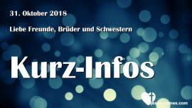 2018-10-31 Kurzinfos-Liebesbriefe von Jesus-Spenden Hand of Love-Jesus-Comes_com