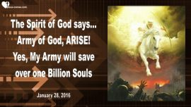 2016-01-28 - Army of God arise-Save one Billion Souls-The Lords Message thru Mark Taylor