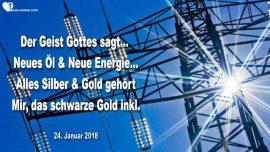 2018-01-24 - Prophezeiung Mark Taylor-Neues Ol-Neue Energie Gold Silber schwarzes Gold-Liebesbrief von Gott