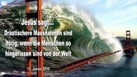 2019-01-13 - Tsunami San Francisco-Tsunami New York City-Massnahmen-Materialismus-Liebesbrief von Jesus
