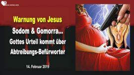 2019-02-14 - Warnung von Jesus an Abtreibung Befurworter-Sodom Gomorra-Urteil Gottes kommt-Liebesbrief von Jesus