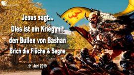 2019-06-11 - Krieg mit den Bullen von Bashan-Fluche brechen-Segnen-Gebet-Geistiger Krieg-Liebesbrief von Jesus