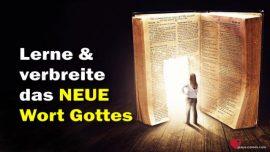 Das Dritte Textament Kapitel 59-Das Neue Gotteswort kennenlernen und verbreiten