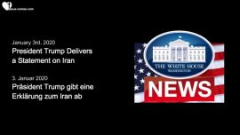 2020-01-03 President Trump Delivers a Statement on Iran-Stellungnahme von Donald Trump zum Iran