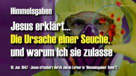 Himmelsgaben Jakob Lorber Zur Cholera-Ursache einer Seuche-Warum lasst Gott Seuchen zu