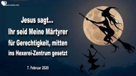 2020-02-07 - Hexerei Zentrum-Satanisten-Erlosungs-Okonomie-Martyrer für Gerechtigkeit-Liebesbrief von Jesus