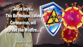 2020-02-25 - Bioweapon Coronavirus will spread like Wildfire-Jesus is the only Hope-Love Letter from Jesus