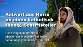 Schöpfungsgeheimnisse Gottfried Mayerhofer-Evangelium der Natur-Antwort an katholisch theologie Schriftsteller