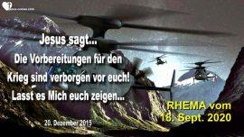 2015-12-20 - Vorbereitungen 3_Weltkrieg sind verborgen-Jesus zeigt was vor sich geht-Liebesbrief von Jesus-Rhema