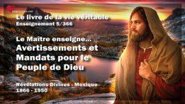 Le livre de la vie veritable-Enseignement 5 des 366-Avertissements et Mandats pour le Peuple de Dieu