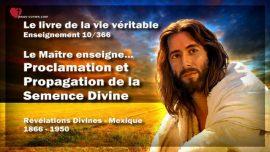Le livre de la vie veritable-Enseignement 10 des 366-Proclamation et Propagation de la Semence Divine