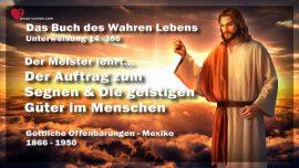Das Buch des wahren Lebens Unterweisung 14 von 366-Auftrag zum Segnen-Geistige Gaben im Menschen