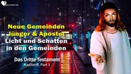 Das Dritte Testament Kapitel 8-1-Neue Gemeinden Junger Apostel Jesu Christi-Licht Schatten in Gemeinden DDT