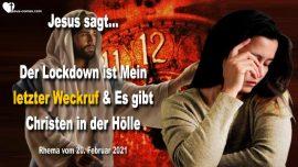 2020-03-30 - Der Lockdown ist Mein letzter Weckruf-Christen in der Holle-Liebesbrief Warnung Jesus Christus