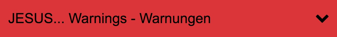 Jesus Warnings Warnungen