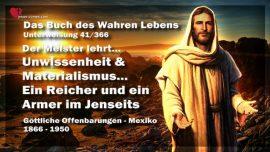 Das Buch des wahren Lebens Unterweisung 41 von 366-Unwissenheit-Materialismus-Ein Armer-Ein Reicher-Im Jenseits