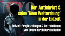 Bertha Dudde Antichrist Neue Weltordnung in der Endzeit NWO-Prophezeiungen Instruktionen Jesus Christus
